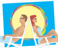 Beach couple Royalty Free Stock Photos