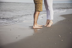 Beach couple feet Royalty Free Stock Image
