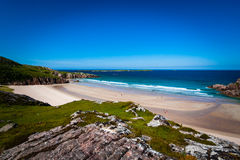Beach cove in Scotland. Sango Bay at Durness in the north west of Scotland Royalty Free Stock Photography