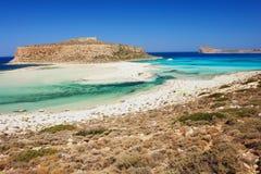 Beach on Crete. Balos beach, the most beautiful beach on Crete Stock Images