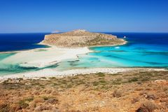Beach on Crete. Balos beach, the most beautiful beach on Crete Stock Photos