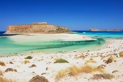 Beach on Crete. Balos beach, the most beautiful beach on Crete Royalty Free Stock Photo
