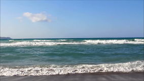 Beach in Crete stock video