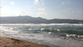 Beach in Crete stock footage
