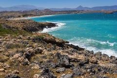 The beach on Crete Greece Stock Photo