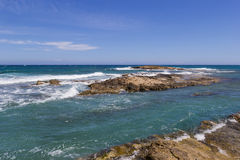 The beach on Crete Greece Royalty Free Stock Images