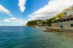 Beach in Croatia, Brela Stomarica resort Stock Photography