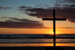 Beach Cross Stock Photo