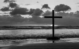 Beach Cross Royalty Free Stock Photography