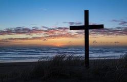 Beach Cross Royalty Free Stock Image