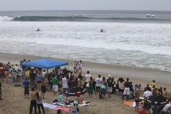 Beach crowd Stock Photo