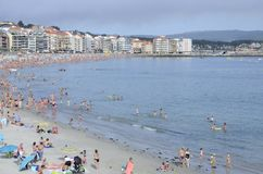 Beach crowded of people Stock Photography