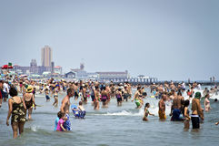 Beach Crowds Jersey Shore Stock Image