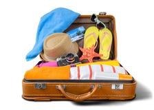 Beach. Cruise clothing destination leisure belongings sunglasses Stock Photo