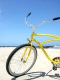 Beach Cruiser. Yellow beach cruiser on the beaches of San Diego, California stock images