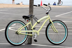 Beach cruiser. Parked at New Port Beach, CA Stock Photo