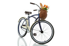 Beach cruiser with basket front view Stock Photo