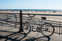 Beach Cruiser on Boardwalk Royalty Free Stock Photography