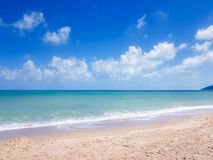 The beach and crystal clear sea royalty free stock photo