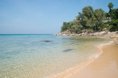 Beach with crystal clear water, Naithon, Phuket Stock Photo
