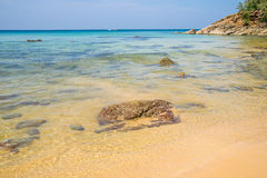 Beach with crystal clear water, Naithon, Phuket, Royalty Free Stock Photo