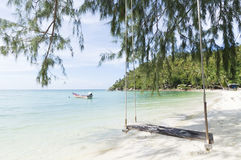 Beach, crystal clear water, white sand and relax Royalty Free Stock Image