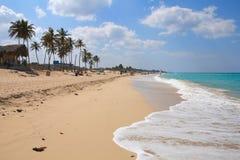 Beach in Cuba. Cuba - Caribbean beach Playa Megano in Playas del Este part of Havana Province. Sandy coast Stock Image