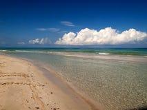 Beach at Cuba. Detail of the Cuban beach stock photo