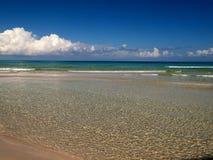 Beach at Cuba. Detail of the Cuban beach stock photography