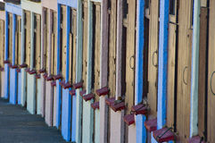 Beach cubicles Royalty Free Stock Photography