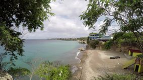 Beach at the Curacao stock video footage