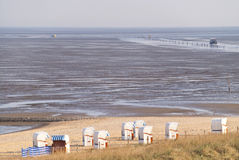 Beach of Cuxhaven Royalty Free Stock Photography