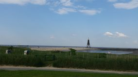 Beach Cuxhaven Royalty Free Stock Photography