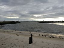 Beach cuxhaven Royalty Free Stock Photo