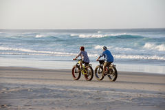 Beach cycling Stock Image
