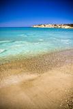 Beach in Cyprus. Amazing colorful beach in Cyprus Stock Photo