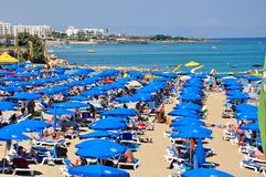 Beach in Cyprus Royalty Free Stock Image