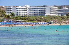 Beach in Cyprus Royalty Free Stock Photos