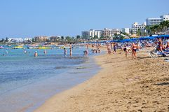 Beach in Cyprus Royalty Free Stock Images