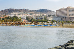 Beach in Cyprus Royalty Free Stock Photography