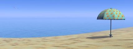 Beach - 3D render Stock Photos