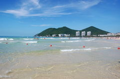 Beach in Dadunhai bay. Sanya, Hainan, China Royalty Free Stock Photography