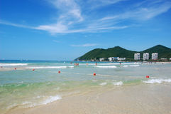 Beach in Dadunhai bay. Sanya, Hainan, China Stock Photos