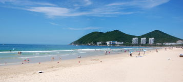 Beach in Dadunhai bay. Sanya, Hainan, China Stock Images