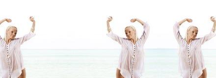 Beach dance Royalty Free Stock Photo