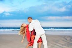 Beach dancing Royalty Free Stock Photos