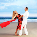 Beach dancing Stock Images