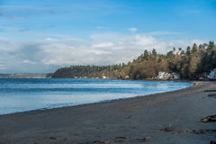 Beach At Dash Point. A view of the beach at Dash Point, Washington royalty free stock images