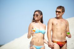 Beach date Royalty Free Stock Photo