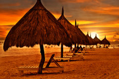 Beach at Dawn Stock Photography